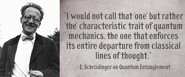 """Today's Quote: How the term """"Entanglement"""" came to be."""